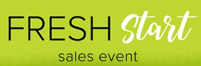 Fresh Start Sales Event