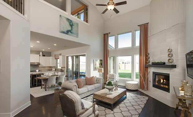 Family Room - The St. Charles (4095 Plan)