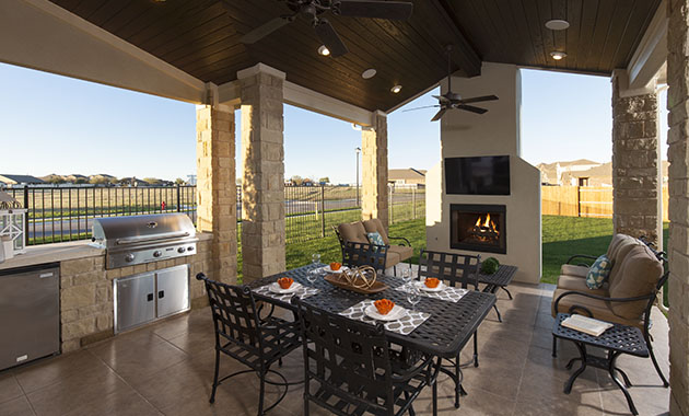 Covered Patio - The St. Charles (4095 Plan)