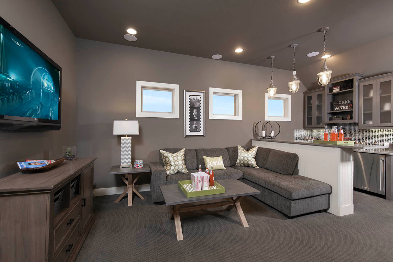 Media Room - The St. Charles (Plan 4095)