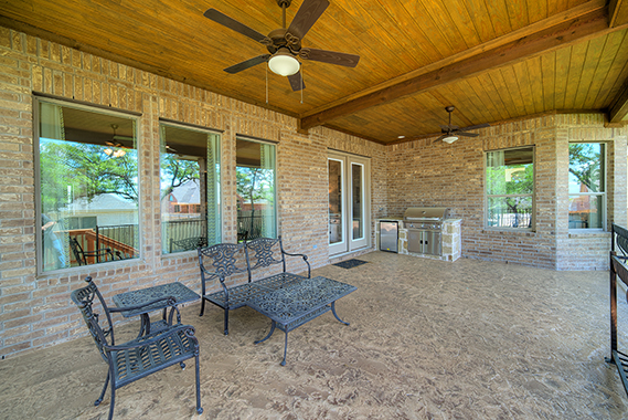 Covered Patio with Outdoor Kitchen - The San Gabriel (3217 Plan)