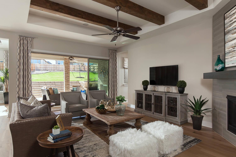 Family Room - The Groveton (2718 Plan)