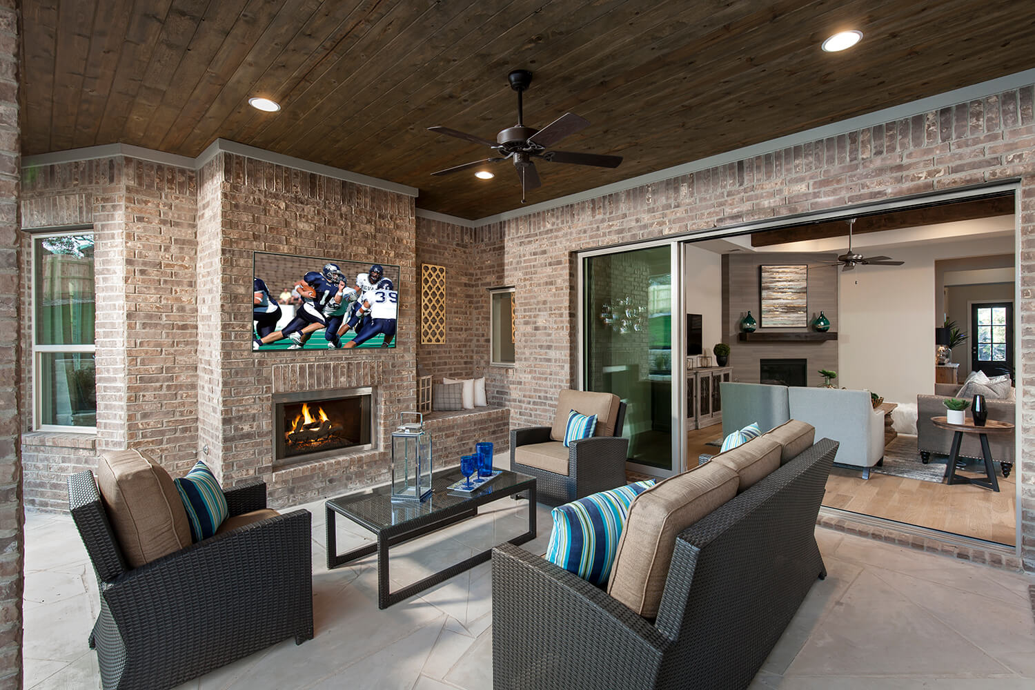 Covered Patio - The Groveton (2718 Plan)