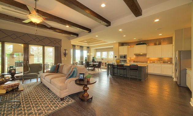 Living Room and Kitchen - The Laguna (2583 Plan)