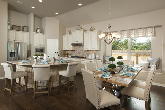 Kitchen and Dining - The Burkburnett II (2480 Plan)