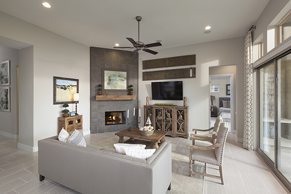 Family Room - The Burkett (2711 Plan)