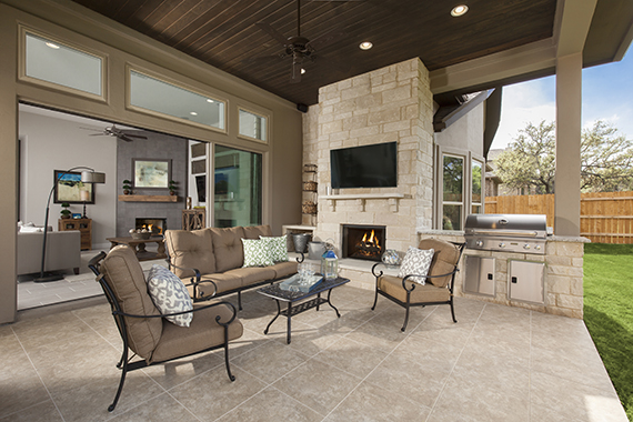 Covered Patio - The Burkett (2711 Plan)