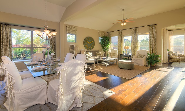 Living Room - The Burkburnett II (2480 Plan)