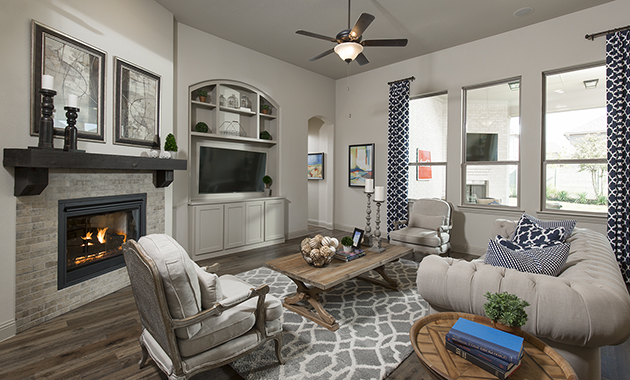 Family Room- The Toledo Bend (2541 Plan)