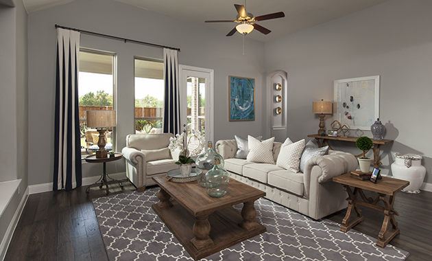 Living Room - The Burkburnett (Design 2091)