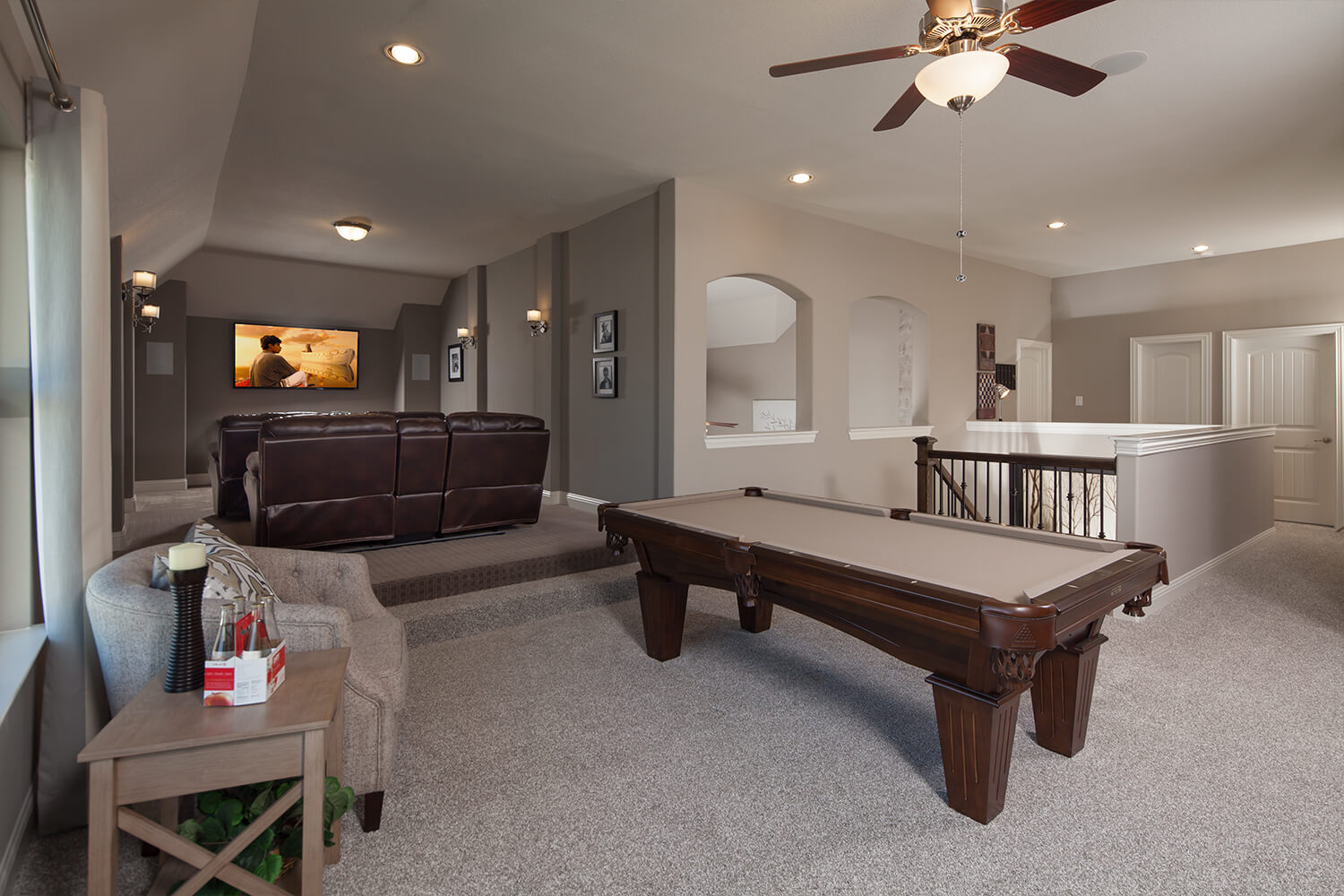 Game and Media Room - The Caddo (Design 3630)