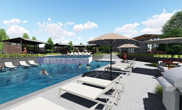 Amenity Center Pool Rendering