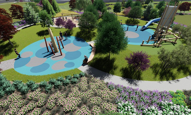 Park and Green Belt Rendering