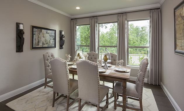 Dining Room - The Chappell Hill (3203 Plan)