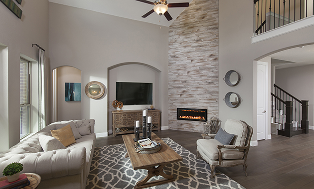 Living Room - The Chappell Hill (3203 Plan)