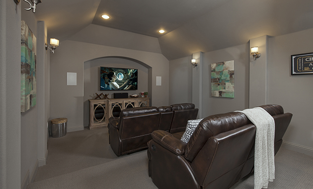 Media Room - The Chappell Hill (3203 Plan)