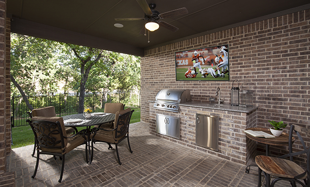 Outdoor Kitchen - The Chappell Hill (3203 Plan)