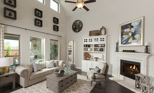 Living Room - The Brookston (3099 Plan)