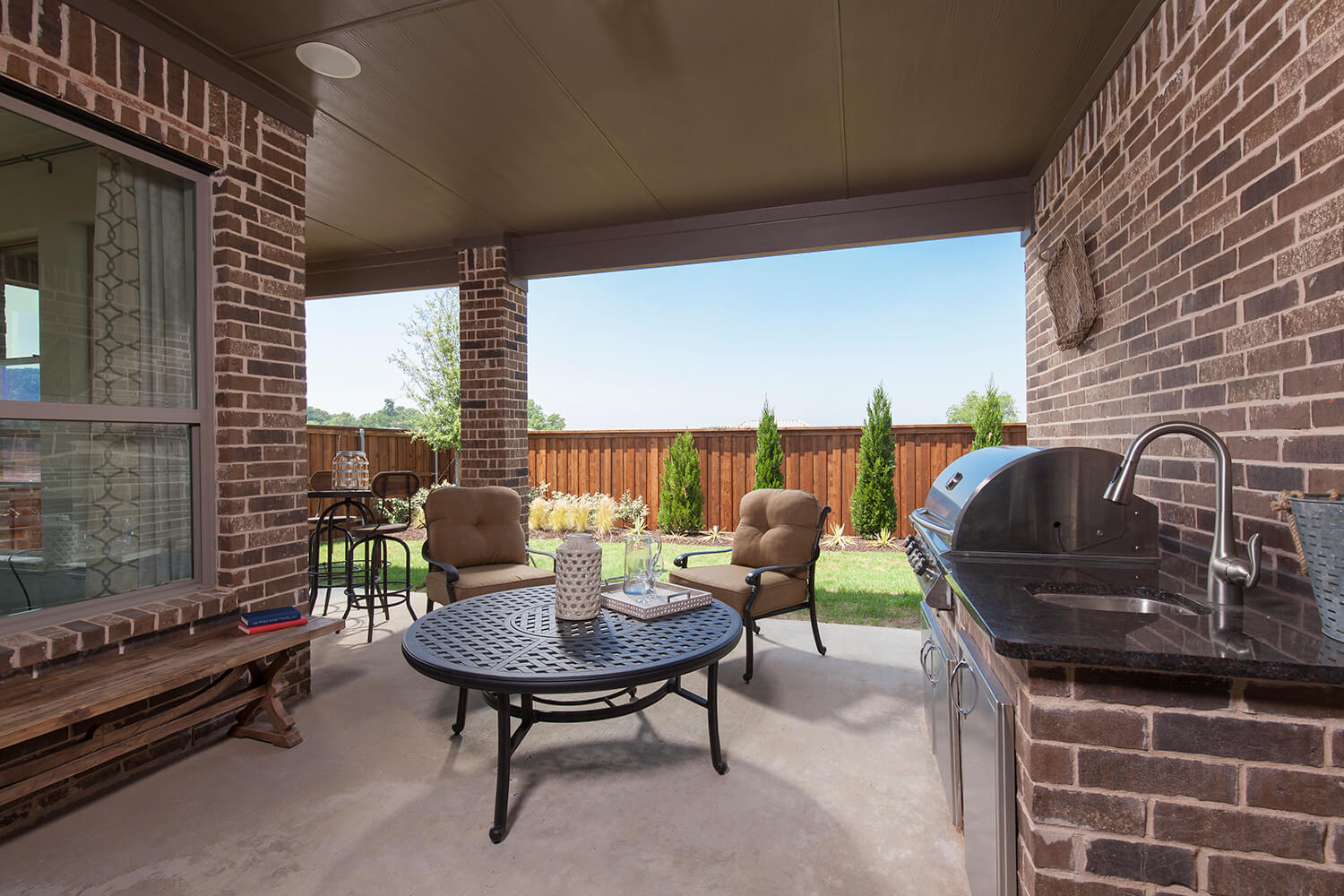Covered Patio - The Brookston (3099 Plan)