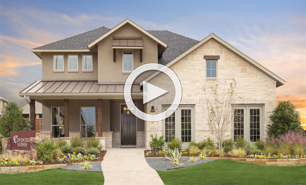 Homes in canyon falls signature series flower mound for Coventry home builders