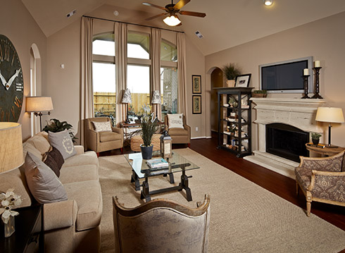 Family Room - The Nederland II (6458 Plan)
