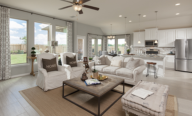 Family Room - The Spring (6460 Plan)