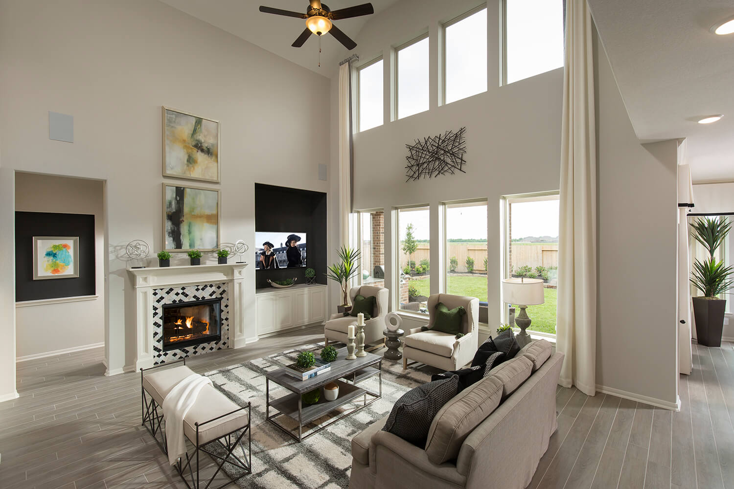 Family Room - Wolfforth (6496 Plan)