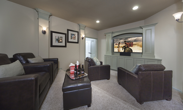Media Room - The Buescher (5962 Plan)
