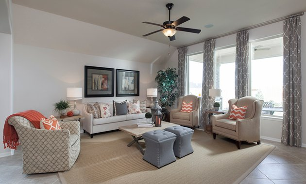 Family Room - The Stuart V (5356 Plan)