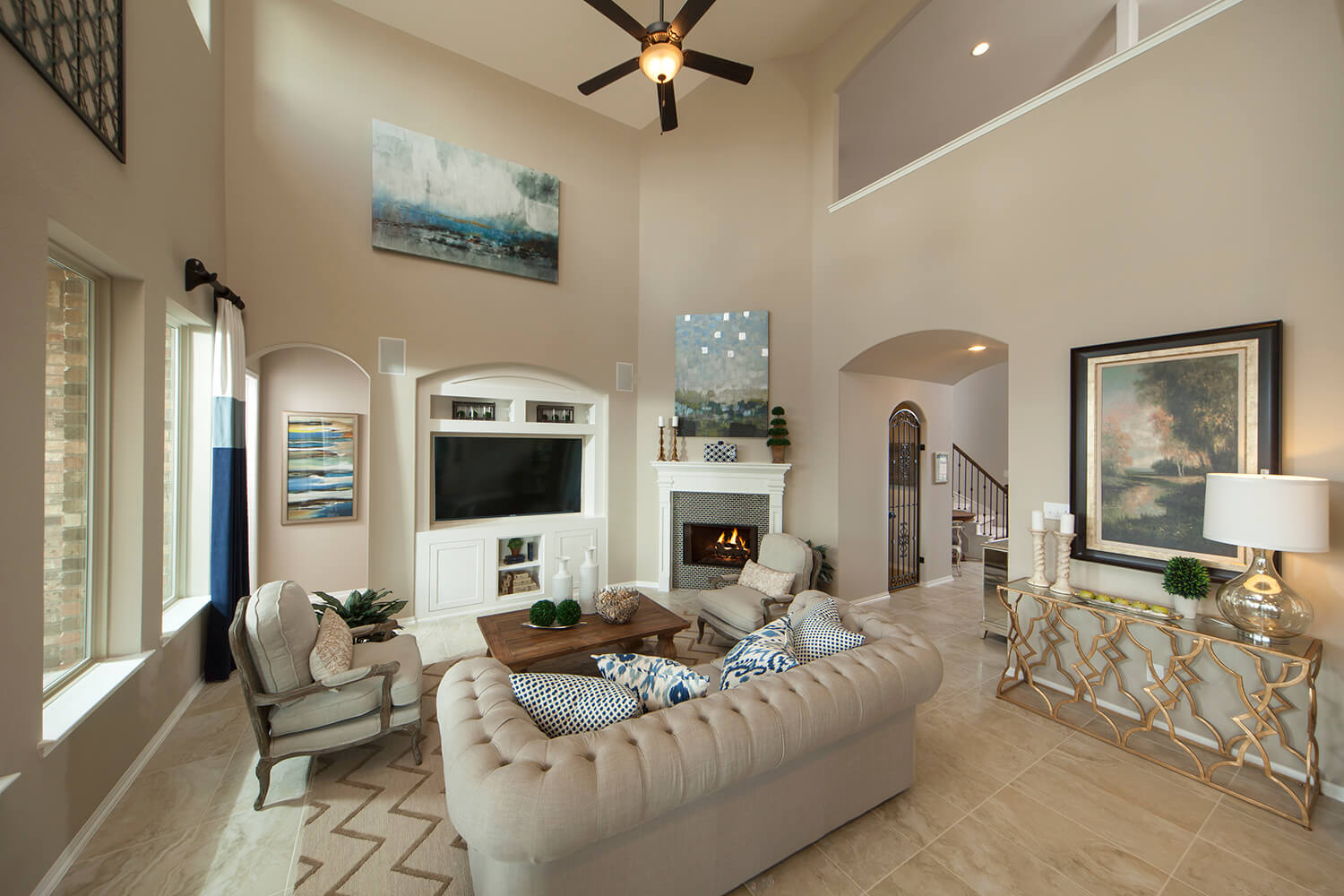 Family Room - The Whitney (5960 Plan)