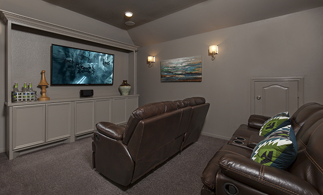 Media Room - Oakhurst (6489 Plan)