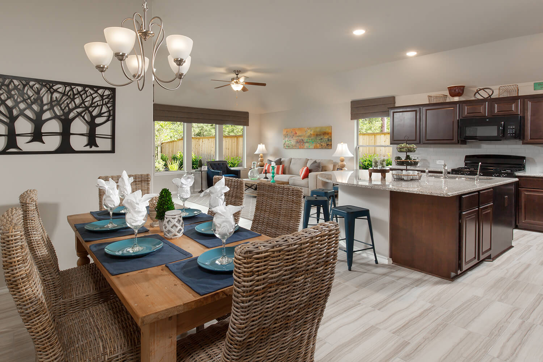 Dining Room/Kitchen - Celina (4832 Plan)