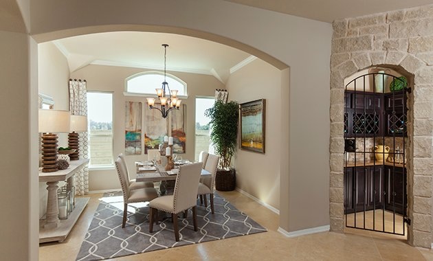 Dining Room and Wine Room - The Miami III (5961 Plan)