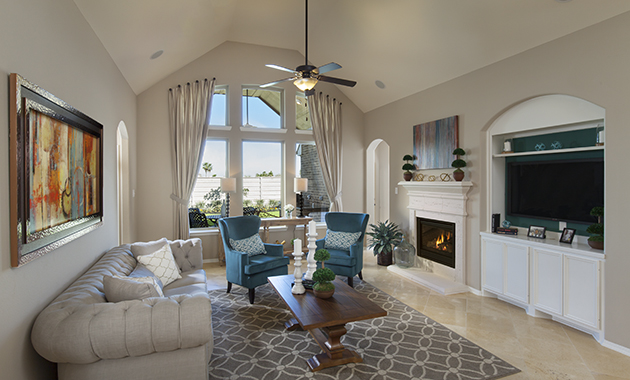 Family Room - The Miami III (5961 Plan)