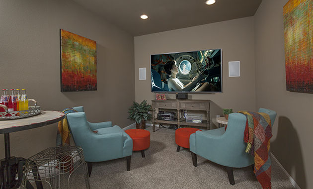 Media Room - The Miami III (5961 Plan)