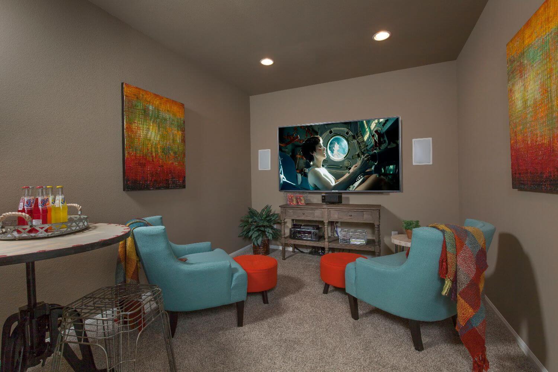 Media Room - The Miami III (5961 Plan)