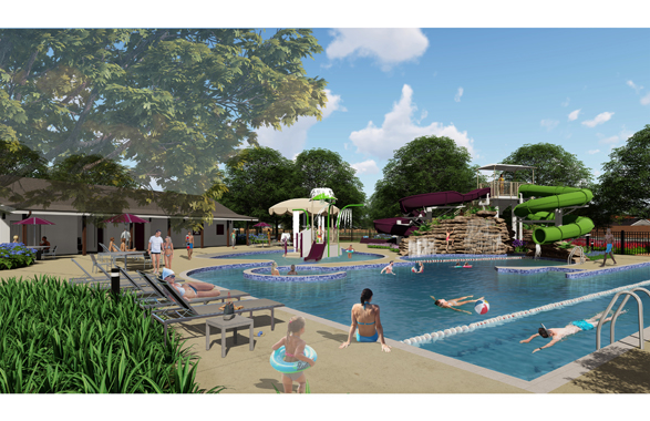 Veranda - Community Pool Rendering