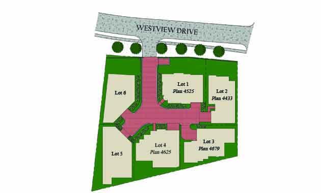 Enclave at Westview Plat Map
