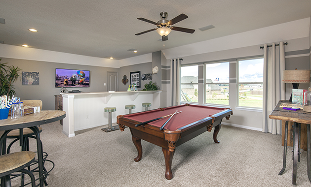 Game Room - The Driftwood (7310 Plan)