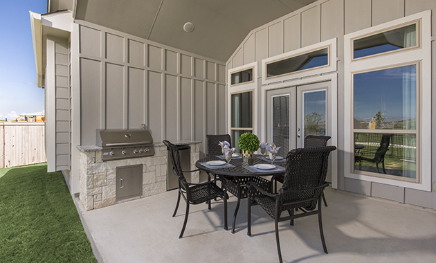Covered Patio - The Calvert (Design2539)
