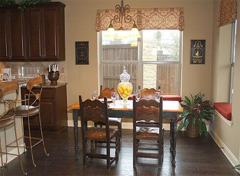 Model Home Breakfast Area