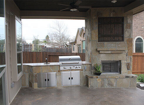 Model Home Outdoor Kitchen