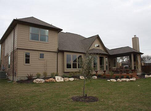 Model Home Backyard