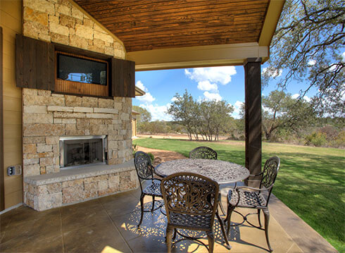Outdoor Fireplace - Design 6348