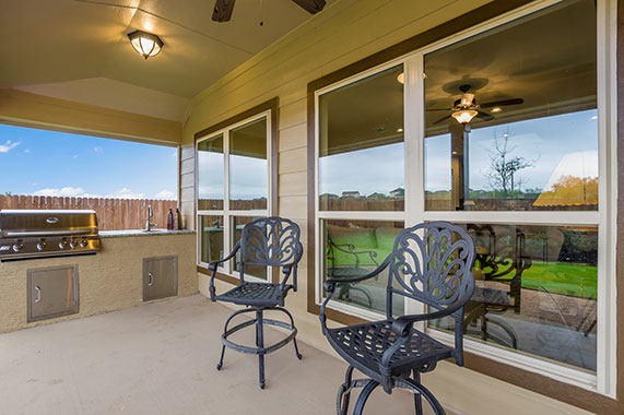 Rear Patio - The Windom (2394 Plan)
