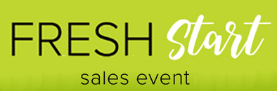 Fresh Start Sales Event